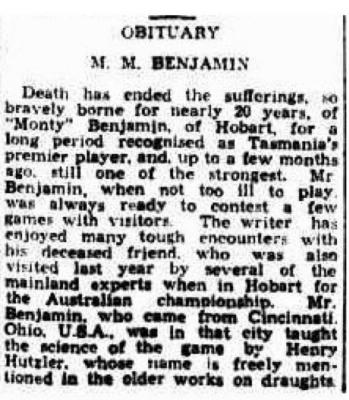 Obituary: M.M. Benjamin