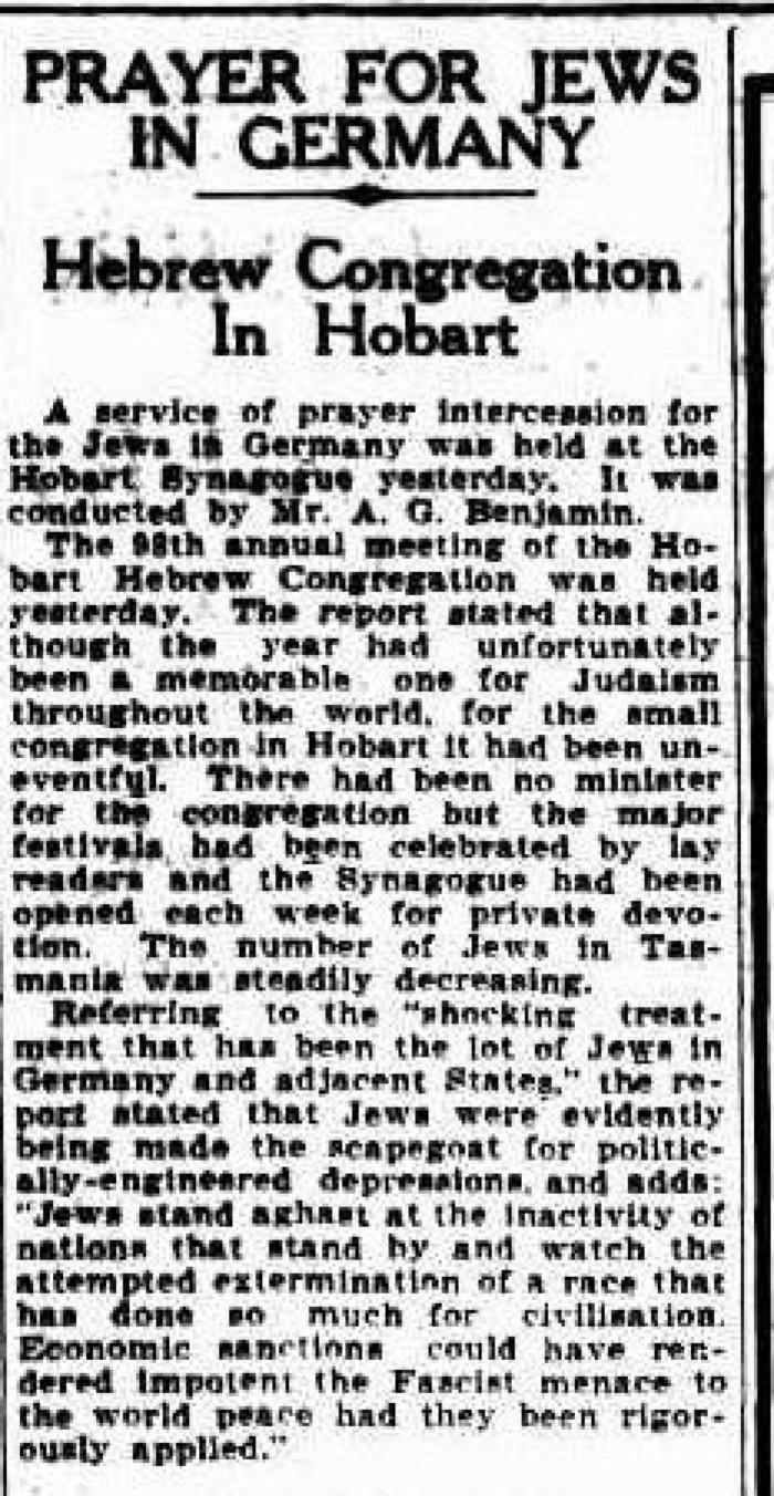 Prayer for Jews in Germany