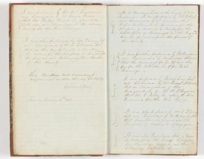 Meeting Minute Original Page, January 1842