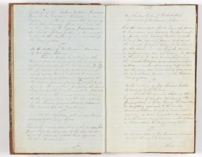 Meeting Minute Original Page, December 26 1841