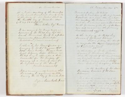 Meeting Minute Original Page, 12 December 1841 to 26 December 1841