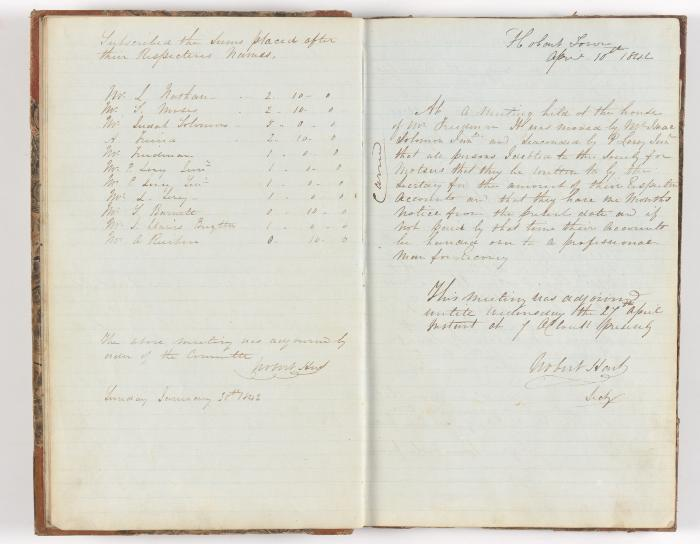 Meeting Minute Original Page, 30 January 1842 - 10 April 1842
