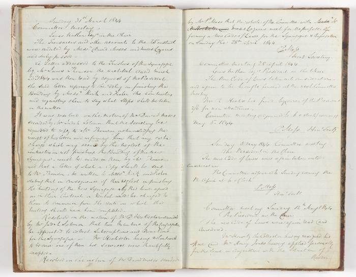 Meeting Minute Original Page, 31 March 1844 - 12 May 1844