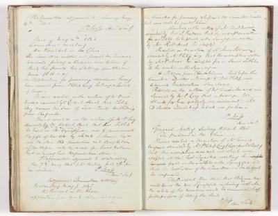 Meeting Minute Original Page, 11 April 1845 - 7 May 1845