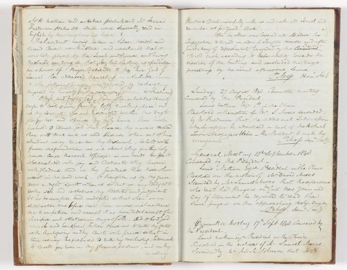 Meeting Minute Original Page, 9 August 1843 - 17 September 1843