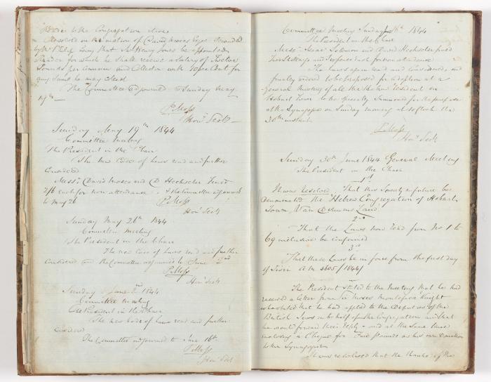 Meeting Minute Original Page, 12 May 1844 - 30 June 1844