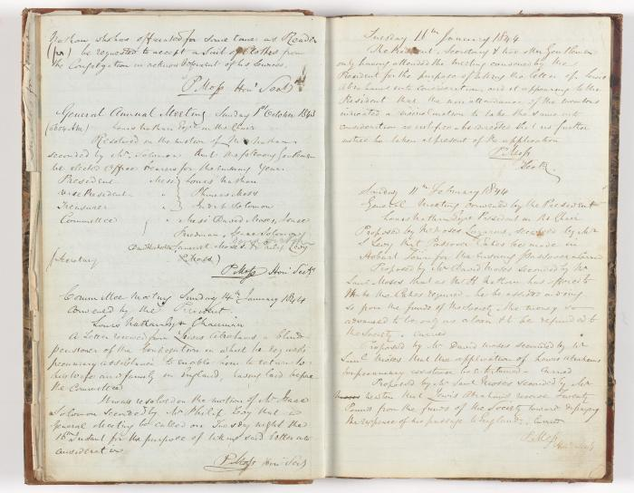 Meeting Minute Original Page, 17 September 1843 - 11 February 1844