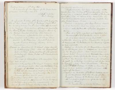 Meeting Minute Original Page, 15 May 1843 - 5 June 1843
