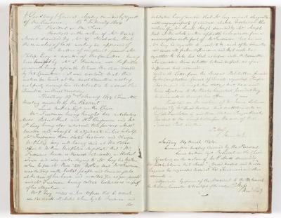 Meeting Minute Original Page, 13 February 1844 - 24 March 1844