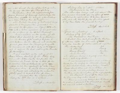 Meeting Minute Original Page, 15 July 1845 - 27 July 1845