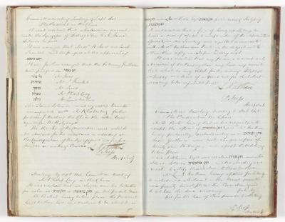Meeting Minute Original Page, 9 September 1845 - 6 October 1845