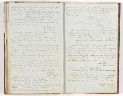 Meeting Minute Original Page, 30 June 1844 - 31 September 1844