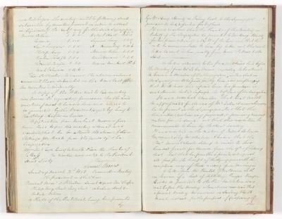 Meeting Minute Original Page, 9 February 1851 - 2 March 1851