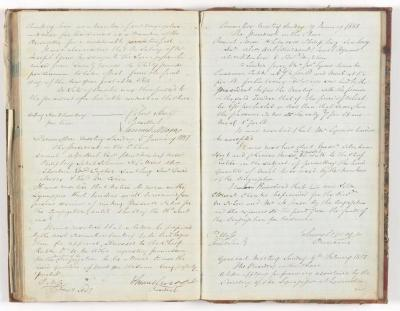 Meeting Minute Original Page, 6 November 1850 - 9 February 1851