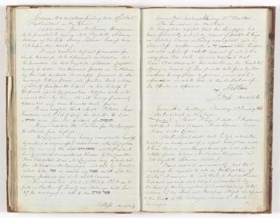 Meeting Minute Original Page, 17 November 1845 - 8 January 1846
