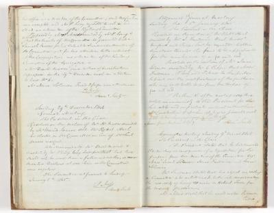 Meeting Minute Original Page, 15 December 1844 - 9 March 1845