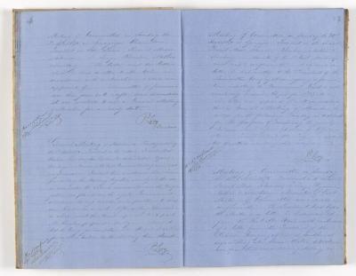 Meeting Minute Original Page, 3 April 1870 - 16 October 1870